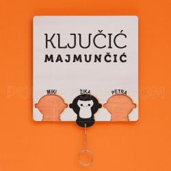 Tri pametna majmuna set za ključeve