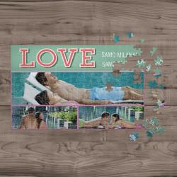 Poklon puzzle samo ljubav