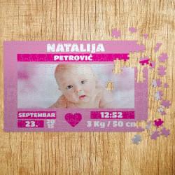 Poklon puzle Bebino rođenje za devojčice