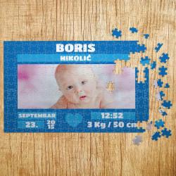 Poklon puzle Bebino rođenje za dečake