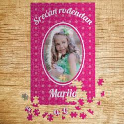 Poklon puzle Srećan rođendan za devojčice