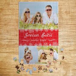 Poklon puzzle Srećan Božić kolaž