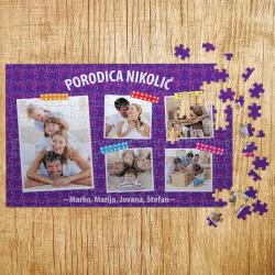 Poklon puzzle Porodični foto kolaž