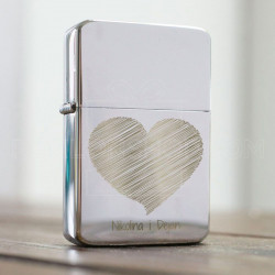 Srce za zaljubljene poklon upaljač
