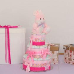 Zeka za devojčice poklon torta od pelena