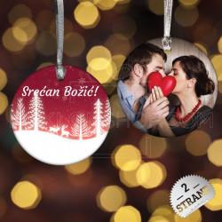 Romantični Božić poklon ukras