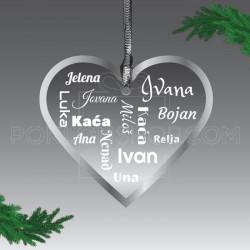 Imena u srcu poklon ukras
