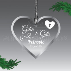 Zaključano srce poklon ukras