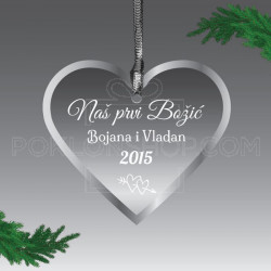 Romantični trenutak poklon ukras