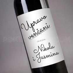Upravo vencani poklon vino