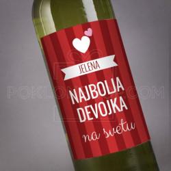 Najbolja devojka poklon vino