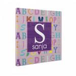 Poklon kanvas sa imenom i slovima za devojčicu