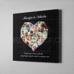 Srce od 26 slika poklon kanvas