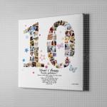 10 Godina braka foto kolaž poklon kanvas