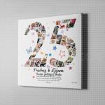 25-ta godišnjica braka foto kolaž poklon kanvas