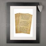 Pismo za tebe poklon kanvas