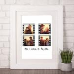 Filmska traka kolaž od 4 fotografije