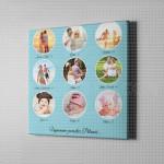 Porodične uspomene kolaž od 9 fotografija