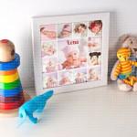Beba poklon foto kolaž od 13 fotografija
