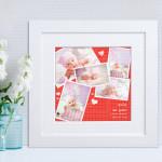 Srećan dan ljubavi poklon foto kolaz od 5 fotografija