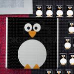 Pingvin poklon kutija sa čokoladicama