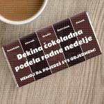 Dekina čokoladna podela radne nedelje poklon čokolada