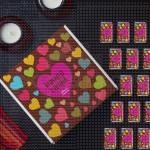 Imena u srcu poklon kutija sa čokoladicama