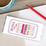 Rođendanska etiketa poklon čokolada
