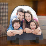 Porodična idila poklon foto kamen