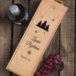 Zimski pozdravi poklon kutija za vino