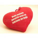 Tekst po želji poklon plišano srce