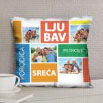 Ljubav porodica sreća poklon jastučnice i jastuci