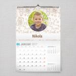 Mala kuca poklon kalendar za dečake