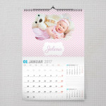 Slatka curica poklon kalendar za bebu