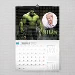 Neverovatni Hulk poklon kalendar za dečaka