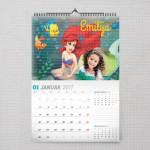 Mala sirena poklon kalendar za devojčice