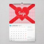 Ime u srcu poklon kalendar