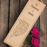 Romantična sa imenima poklon kutija za vino
