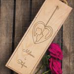 Privezak poklon kutija za vino