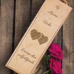 Srećan dan zaljubljenih dva srca poklon kutija za vino
