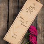 Srećna Nova godina i srećan Božić poklon kutija za vino