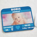 Bebino rođenje dečak poklon podloga za miša