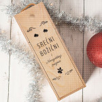 Božićni i Novogodišnji praznici poklon kutija za vino