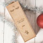 Naš prvi Božić datum poklon kutija za vino