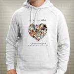 Srce od 26 slika poklon majice i duksevi