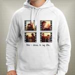 Filmska traka kolaž od 4 fotografije poklon majice i duksevi