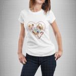 Kolaž u srcu poklon majice i duksevi