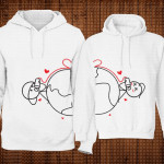 Ljubav na daljinu poklon majice i duksevi