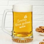 Nova godina poklon čaša za pivo