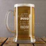 Pivo i rad poklon čaša za pivo
